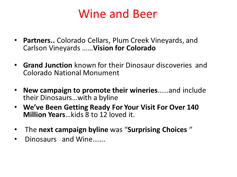 Wine and Beer Partners..