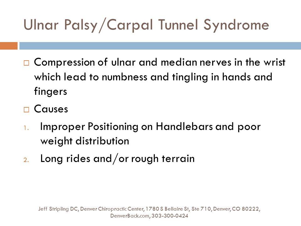 Ulnar Palsy/Carpal Tunnel Syndrome Jeff Stripling DC, Denver Chiropractic Center, 1780 S Bellaire St, Ste 710, Denver, CO 80222, DenverBack.com, 303-3