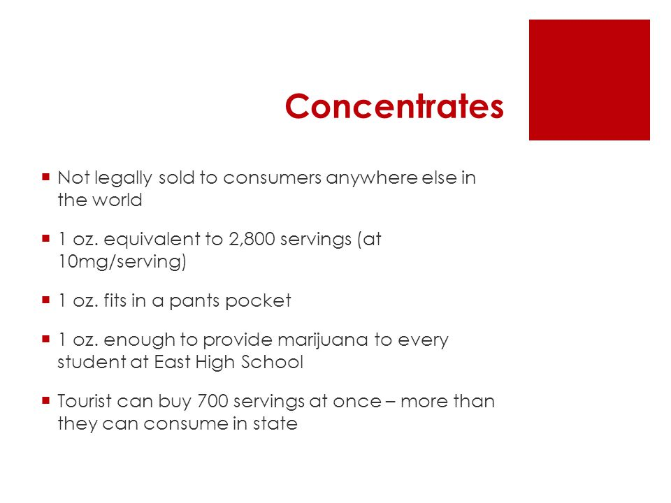 Concentrates  Not legally sold to consumers anywhere else in the world  1 oz.