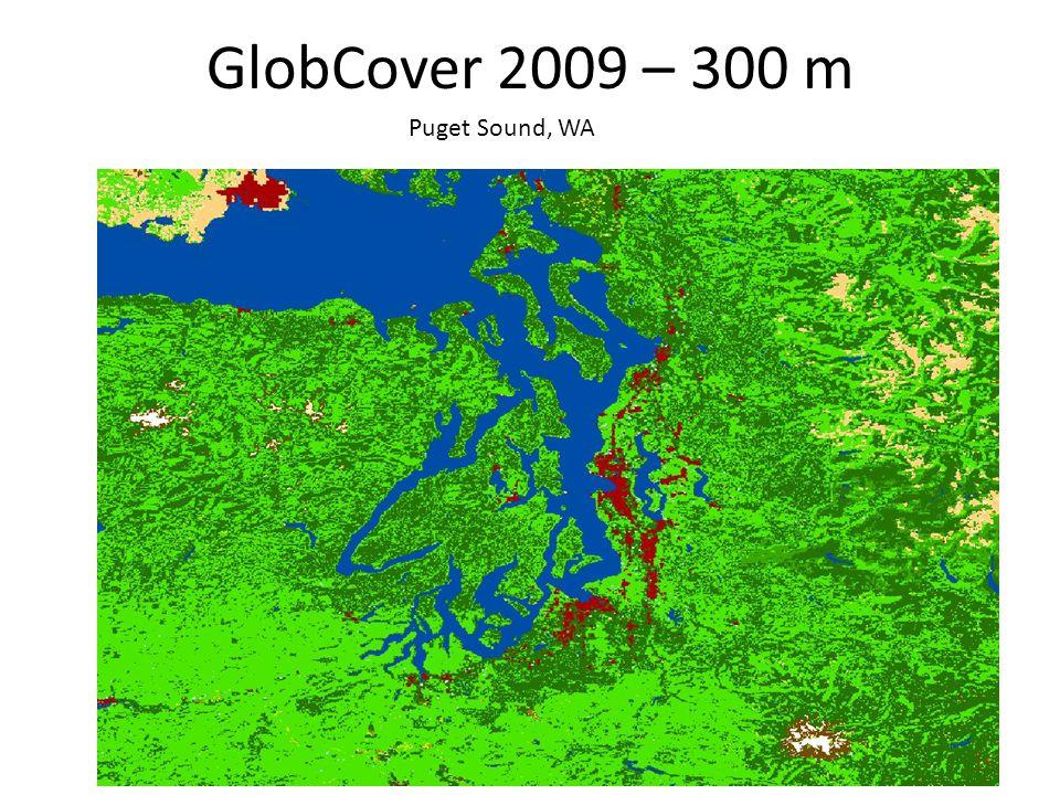 GlobCover 2009 – 300 m Puget Sound, WA