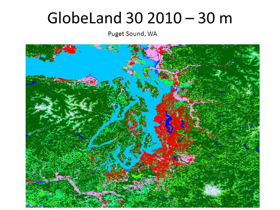 GlobeLand 30 2010 – 30 m Puget Sound, WA