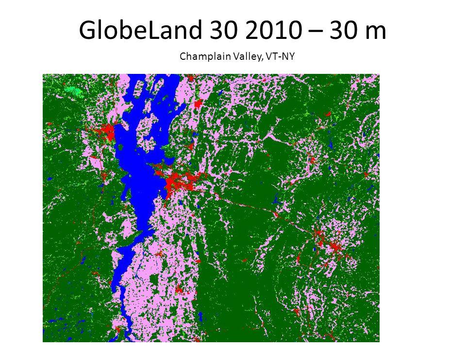 GlobeLand 30 2010 – 30 m Champlain Valley, VT-NY