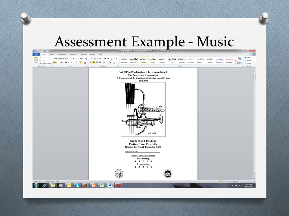 Assessment Example - Music