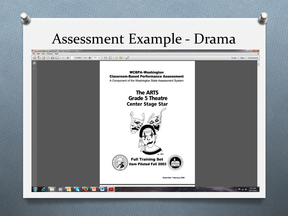 Assessment Example - Drama
