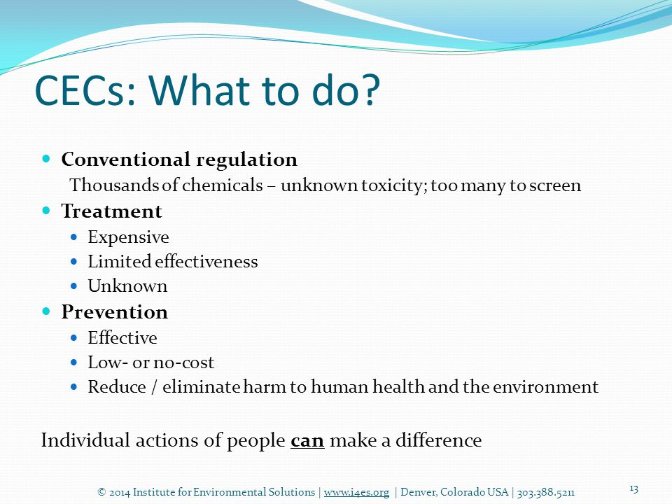 CECs: What to do.