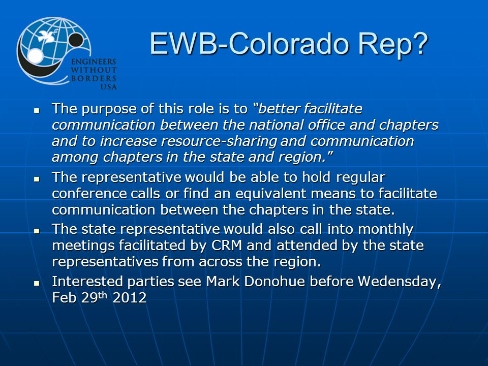 EWB-Colorado Rep.