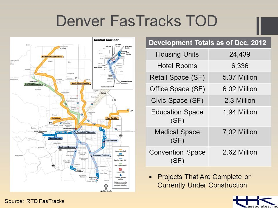 Denver FasTracks TOD Development Totals as of Dec.