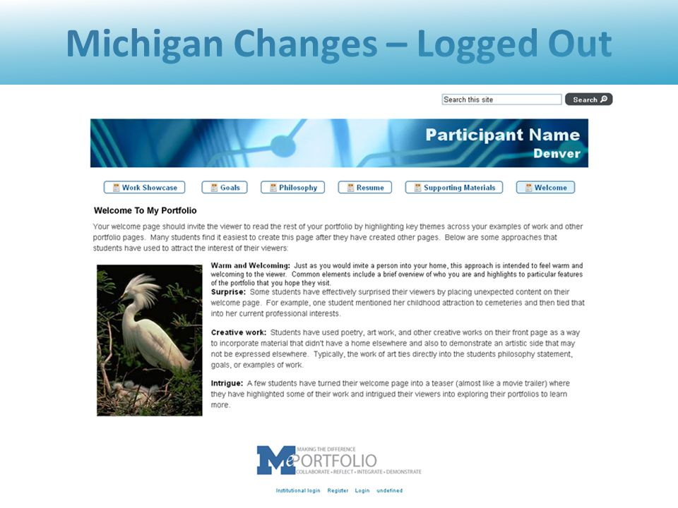 Michigan Changes – Logged Out 23 June 15-172010 Sakai Conference - Denver, CO, U.S.A.