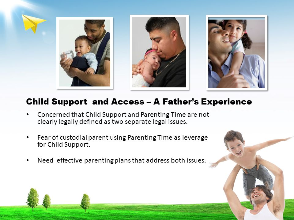 Child Support and Access – A Father's Experience Concerned that Child Support and Parenting Time are not clearly legally defined as two separate legal issues.