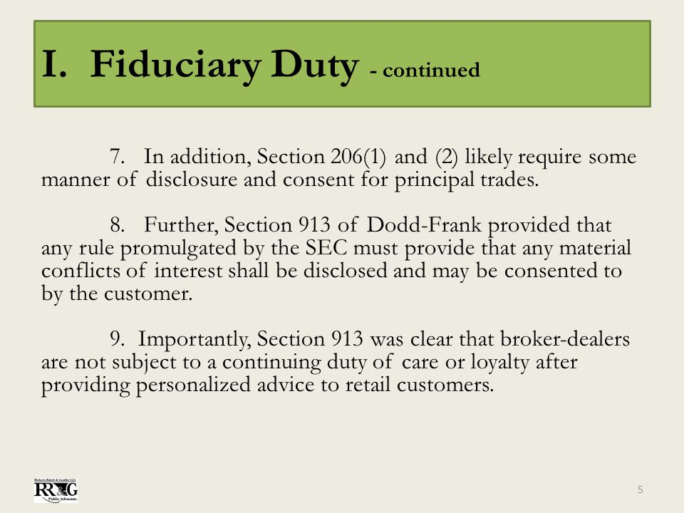 I.Fiduciary Duty - continued B.