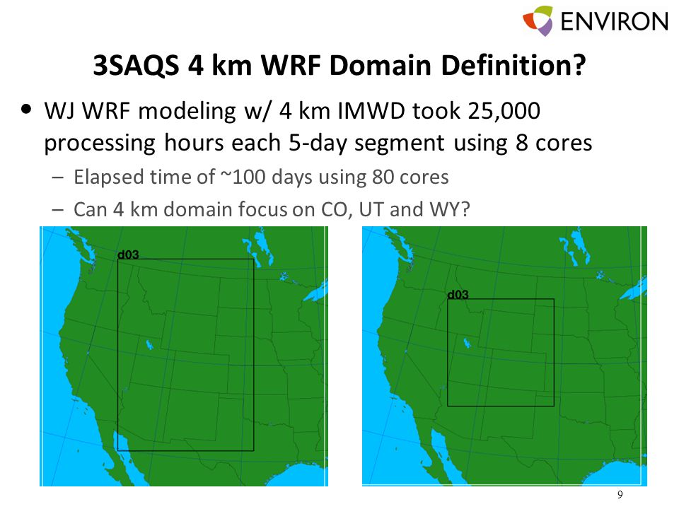 3SAQS 4 km WRF Domain Definition.