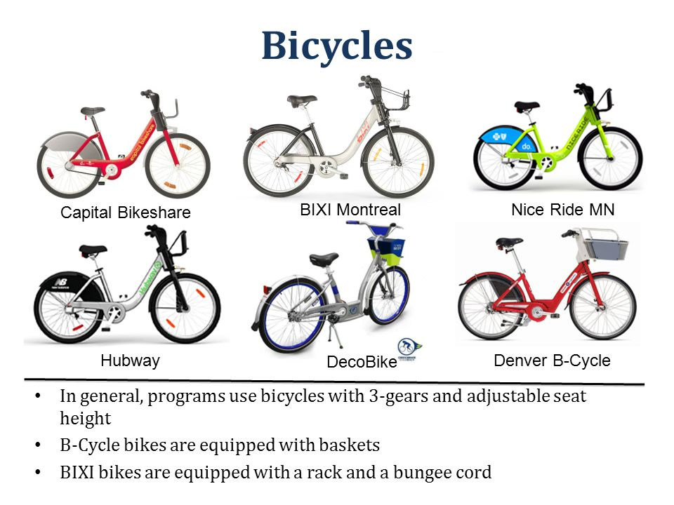 Global Activity As of Spring 2011: 136 bikesharing programs in approximately 160 cities around the world Over 236,700 bicycles and 13,500 stations on the roads worldwide