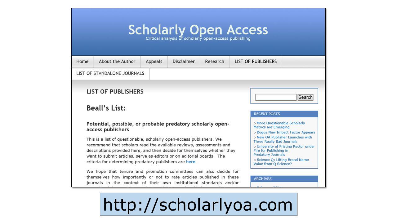http://scholarlyoa.com