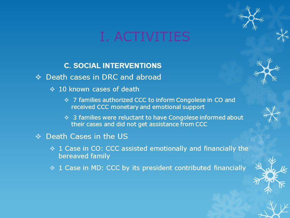 I. ACTIVITIES C.