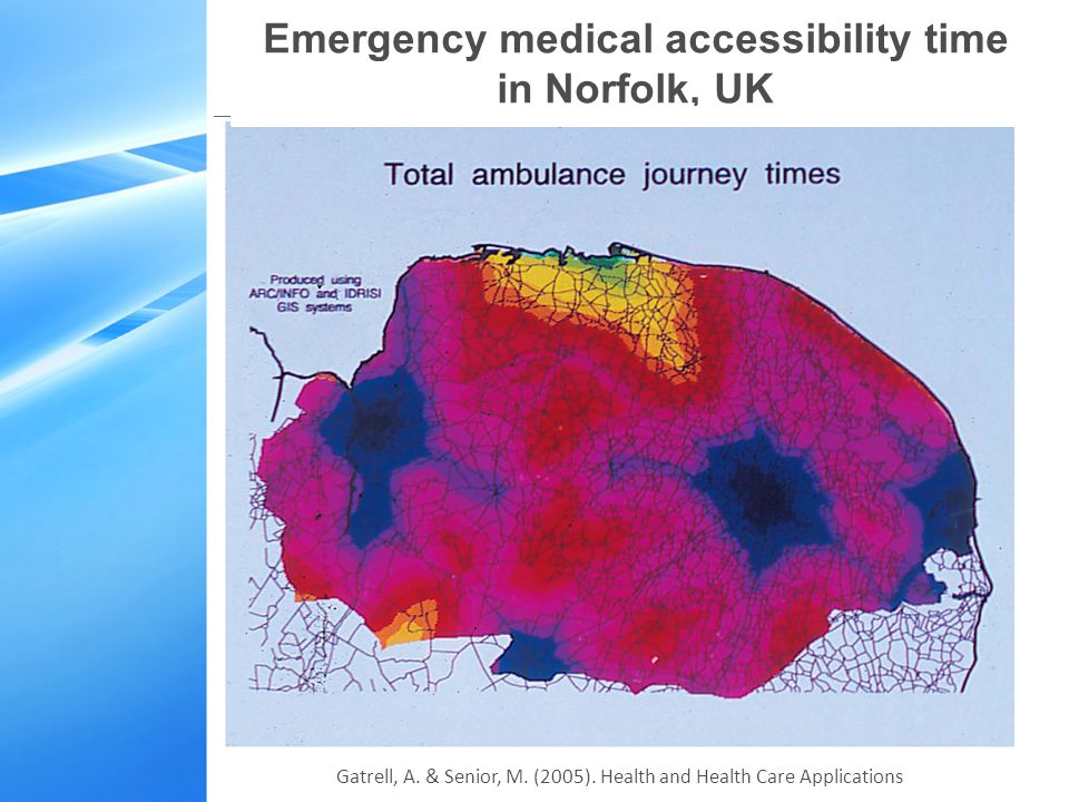 Emergency medical accessibility time in Norfolk, UK Gatrell, A.