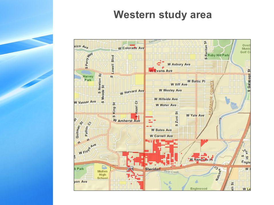Western study area