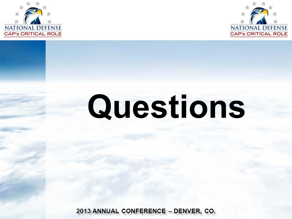 Questions 2013 ANNUAL CONFERENCE – DENVER, CO.