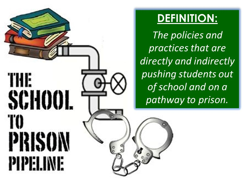 DEFINITION: The policies and practices that are directly and indirectly pushing students out of school and on a pathway to prison.