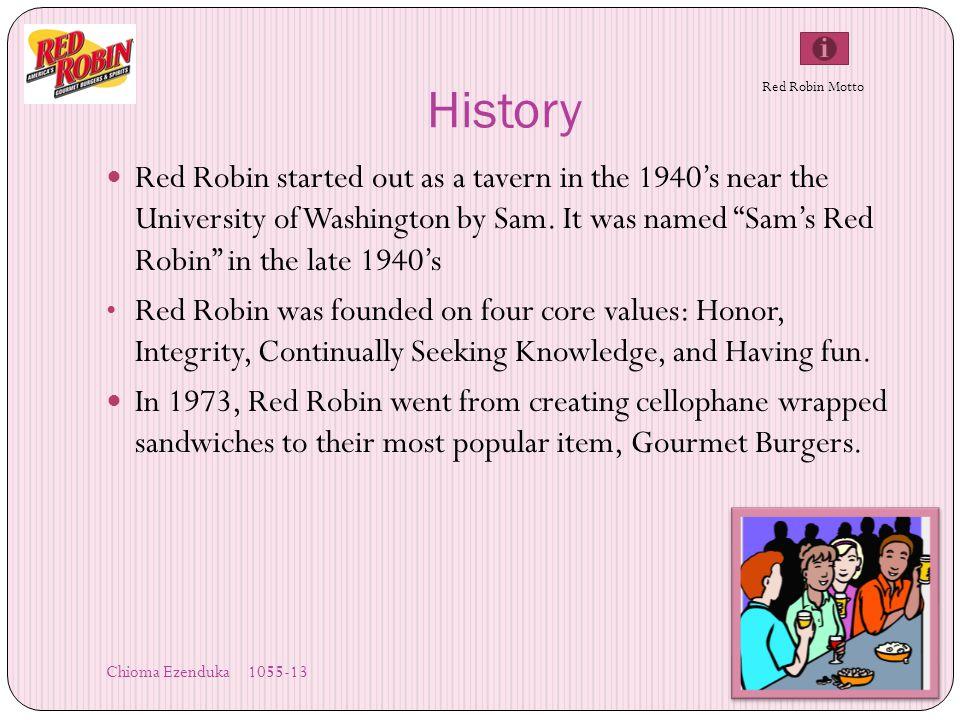 Chioma Ezenduka 1055- 13 06/03/2010 Red Robin Gourmet Burgers