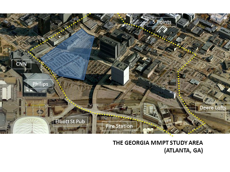 THE GEORGIA MMPT STUDY AREA (ATLANTA, GA) CNN Philips Elliott St Pub Deere Lofts Fire Station 5 Points