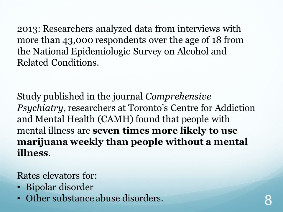 8 2013: Researchers analyzed data from interviews with more than 43,000 respondents over the age of 18 from the National Epidemiologic Survey on Alcohol and Related Conditions.