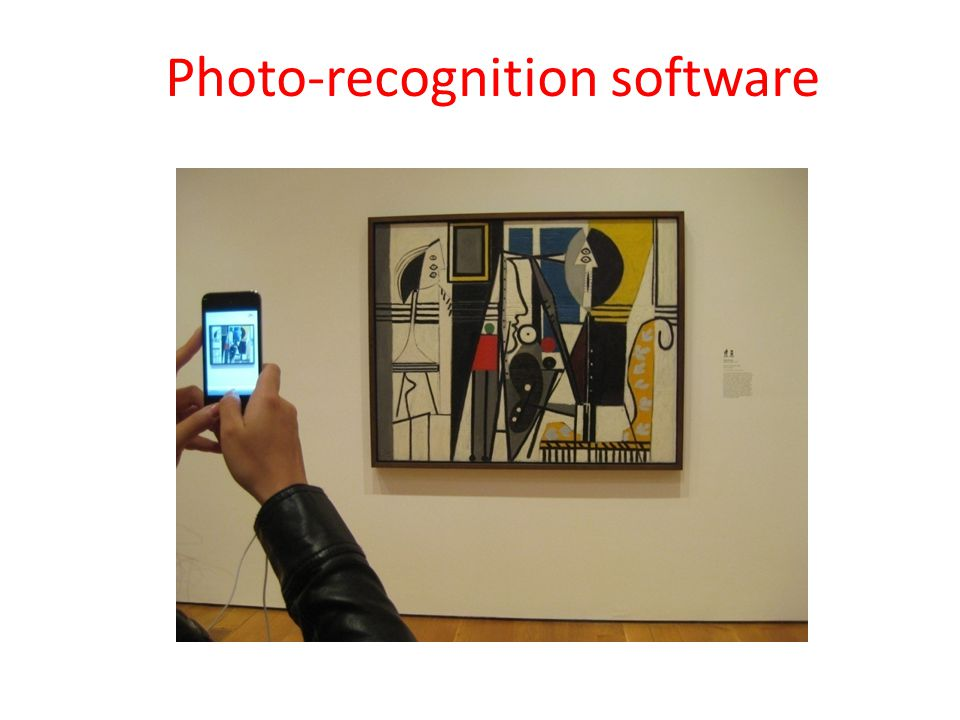 Photo-recognition software
