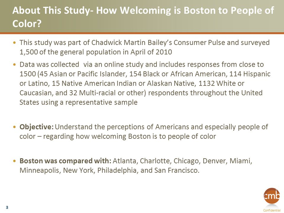 Confidential About This Study- How Welcoming is Boston to People of Color.