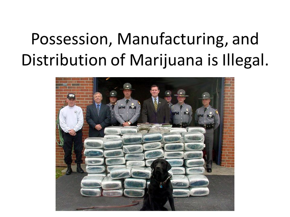 Possession, Manufacturing, and Distribution of Marijuana is Illegal.