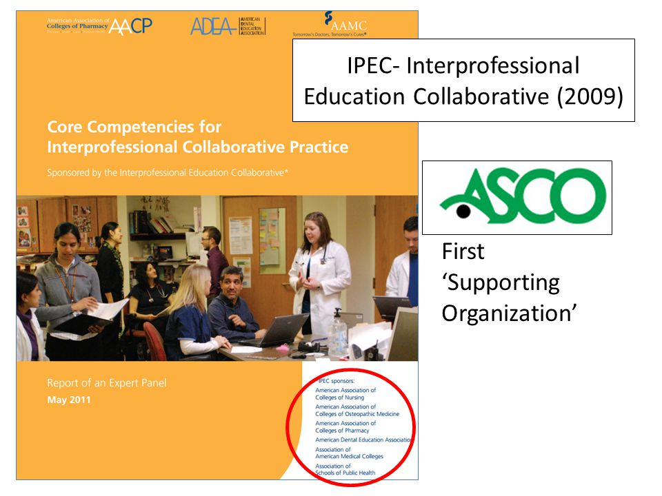 IPEC- Interprofessional Education Collaborative (2009) First 'Supporting Organization'