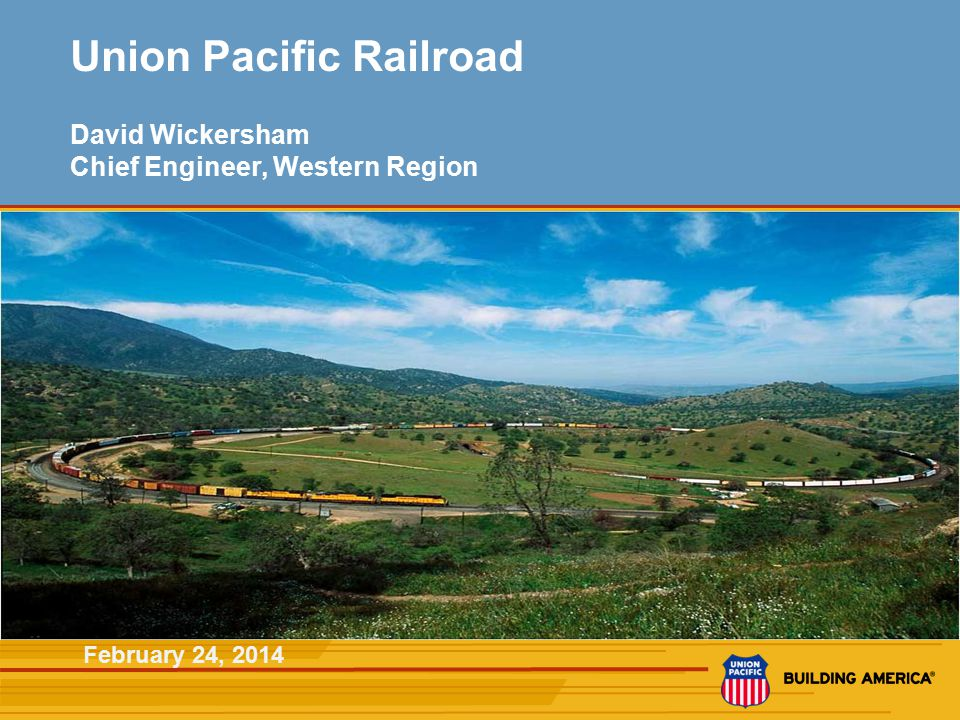 2 Key Union Pacific Railroad Corridors Key Entry from Asia Fast Facts Route miles 32,000 in 23 states Employees46,000 Annual Payroll$4.3B Customers10,000 Locomotives8,400