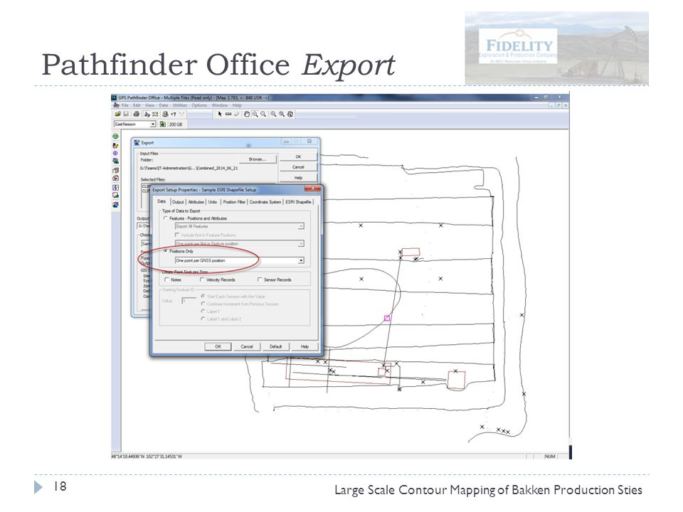 Pathfinder Office Export 18 Large Scale Contour Mapping of Bakken Production Sties