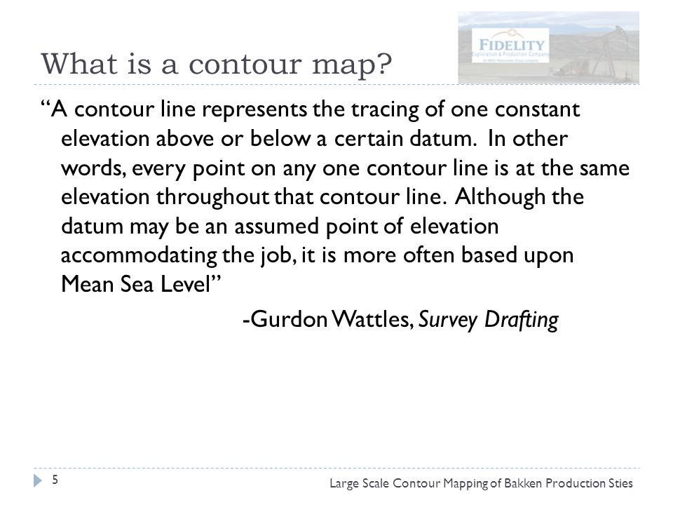What is a contour map.