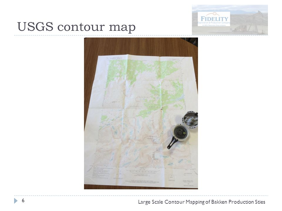 USGS contour map 6 Large Scale Contour Mapping of Bakken Production Sties