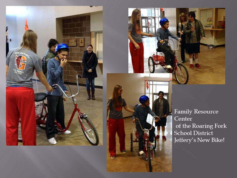 Family Resource Center of the Roaring Fork School District Jeffery's New Bike!
