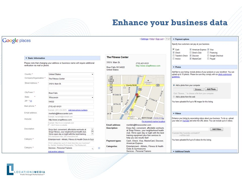 Enhance your business data