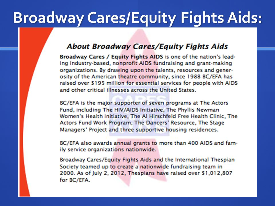 Broadway Cares/Equity Fights Aids: