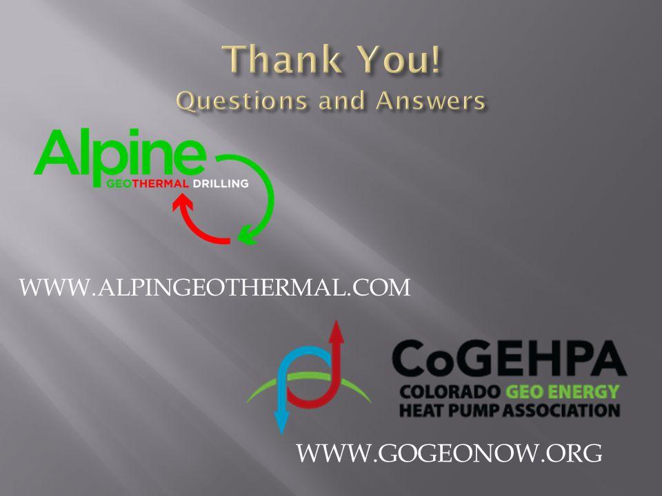WWW.ALPINGEOTHERMAL.COM WWW.GOGEONOW.ORG