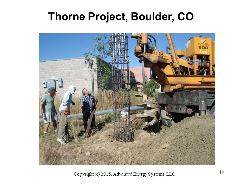 10 Thorne Project, Boulder, CO Copyright (c) 2015, Advanced Energy Systems, LLC
