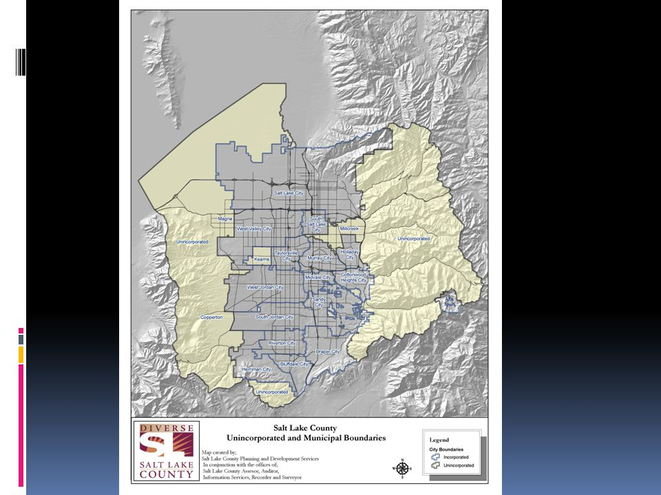 Makeover of Planning & Development Agencies  Salt Lake County Findings  Lack of vision  Little teamwork across sections of Office  Lack of intra-agency cooperation  Lack of communication  Lack of effective customer service  Professionalism