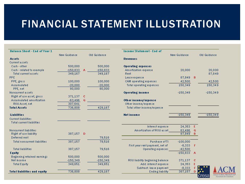 FINANCIAL STATEMENT ILLUSTRATION