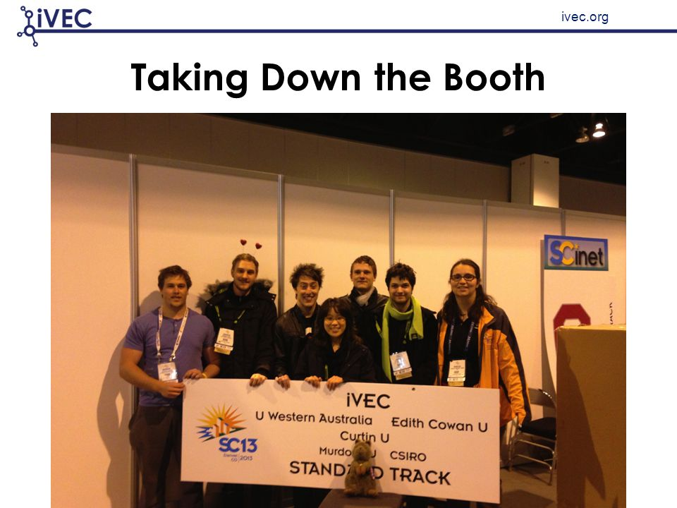 ivec.org Taking Down the Booth