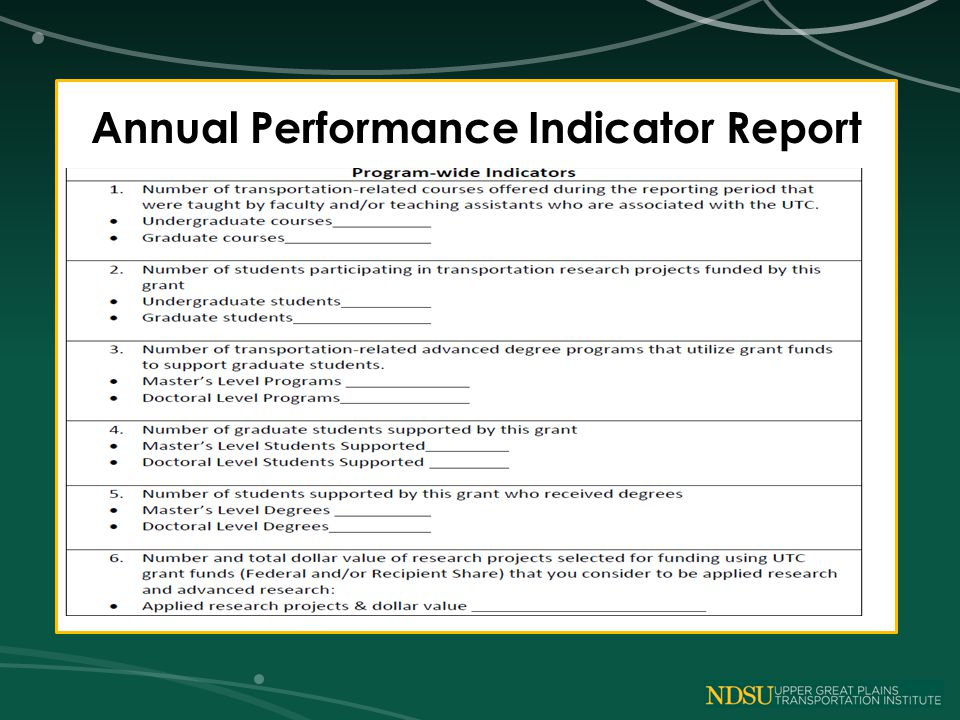 Annual Performance Indicator Report