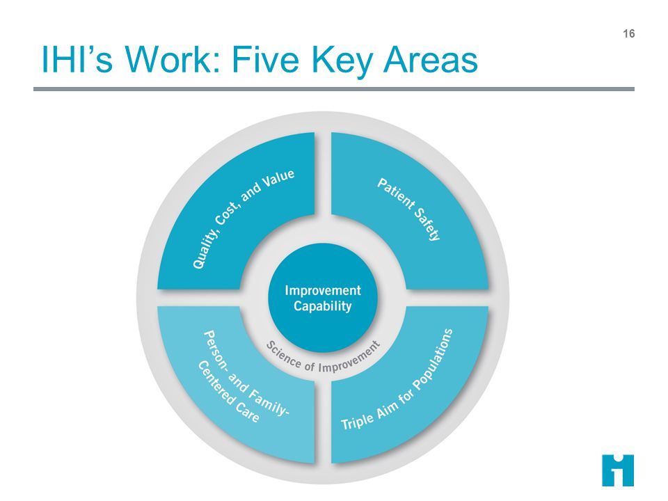 IHI's Work: Five Key Areas 16