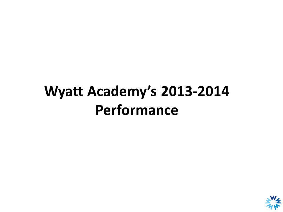 Wyatt Academy English Language Learners Grades 3-5 Note: ACCESS measure how well English language learners are learning English.
