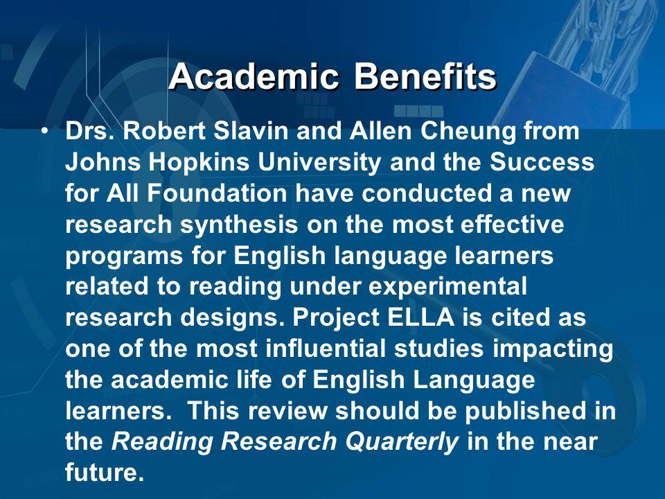 Academic Benefits Drs.