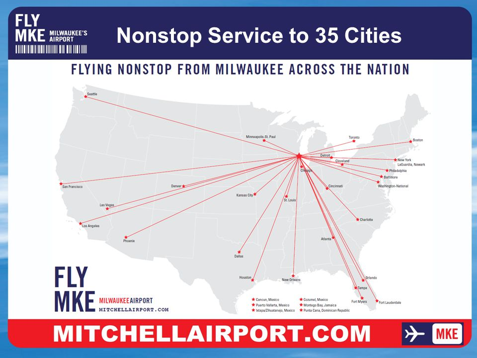 Nonstop Service to 35 Cities