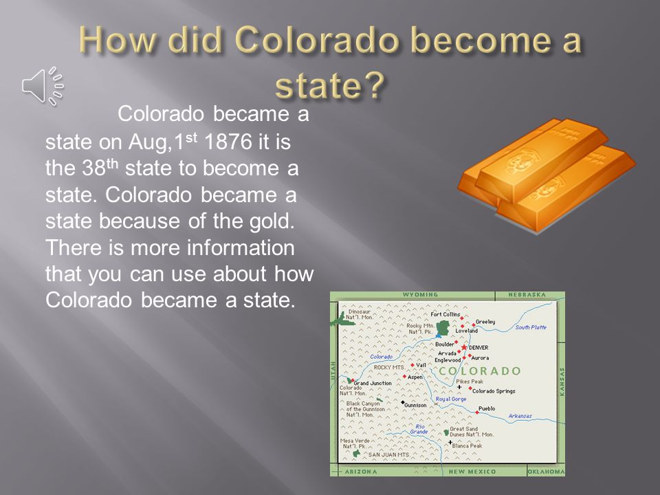 Denver is the capital state of Colorado. Denver has a population of 588,349 people.