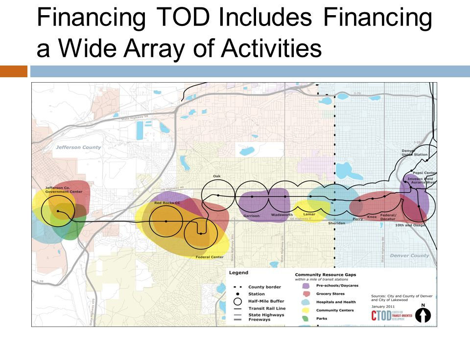 Financing TOD Includes Financing a Wide Array of Activities