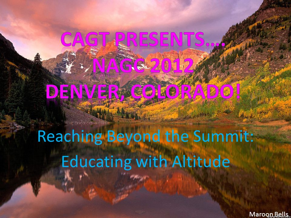 Reaching Beyond the Summit: Educating with Altitude Maroon Bells