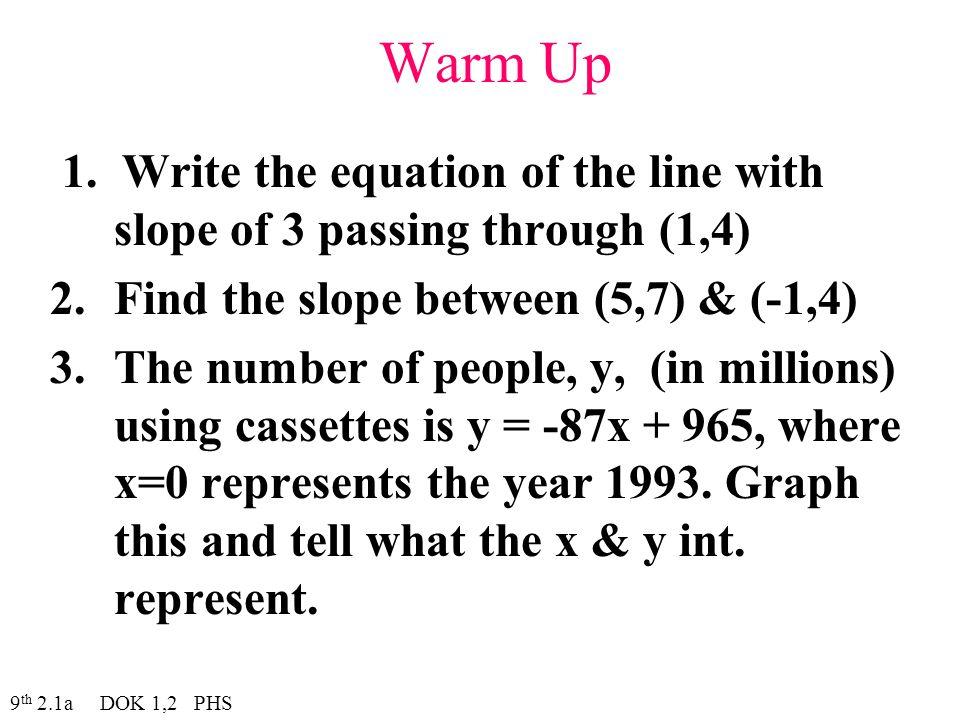 Warm Up 1.